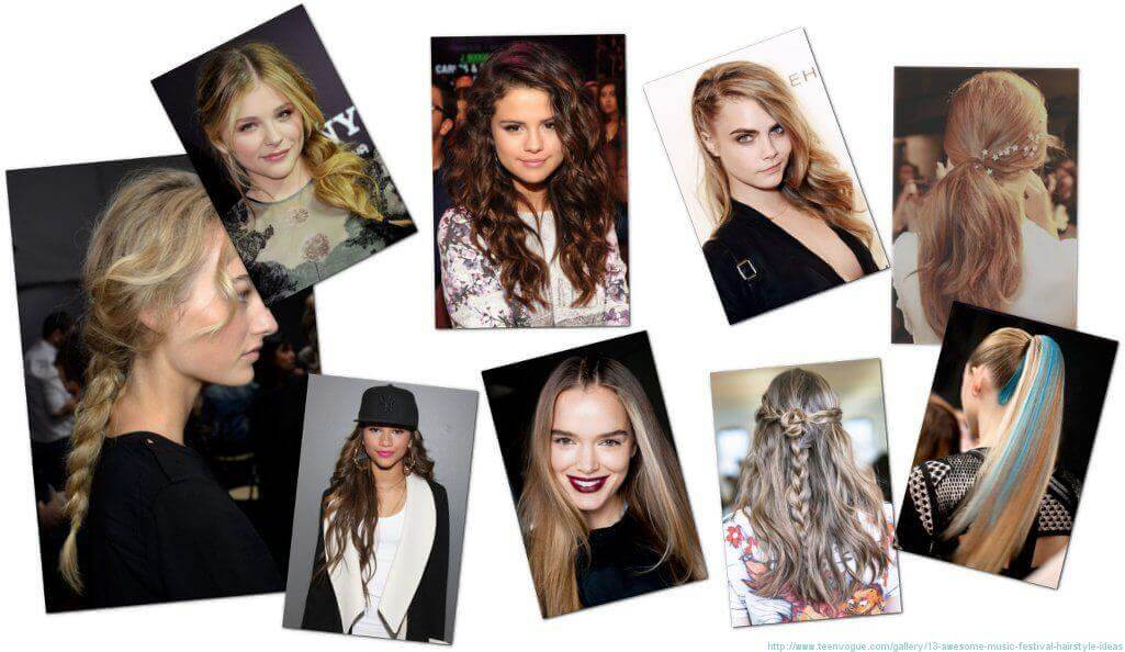 Festival Hair Ideas - Collage