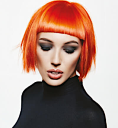 Sylka Hair - woman with short orange hair - inspiration 01