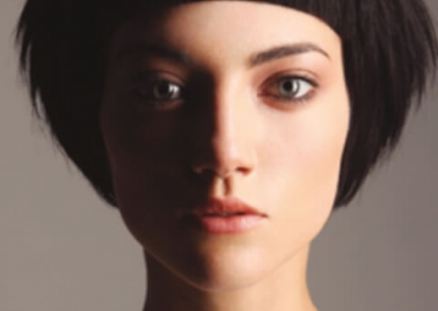 woman with short black sculptured hair - inspiration 01